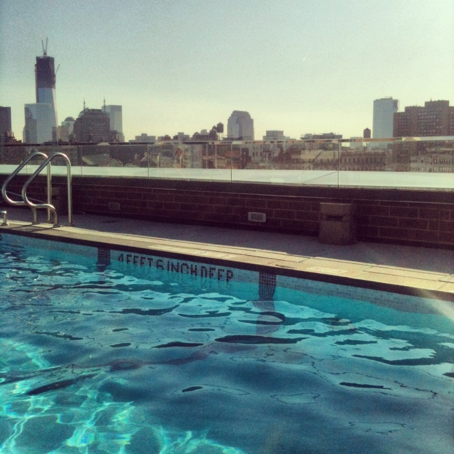 Rooftop pool party image