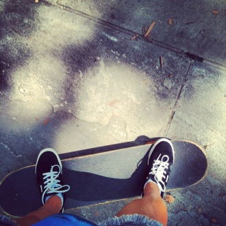 Me on a skateboard image