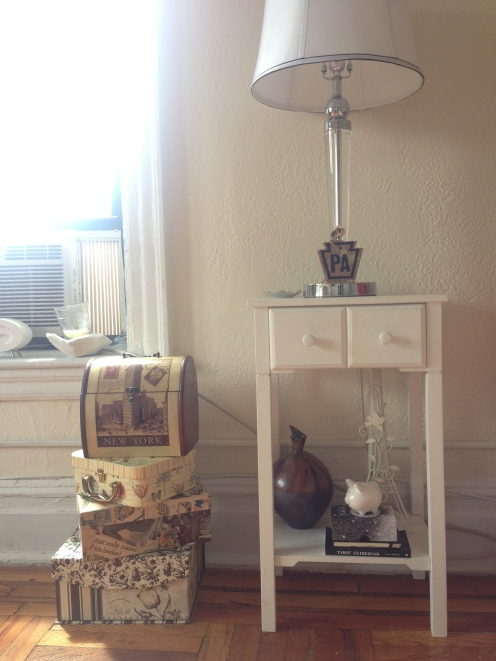 Nightstand and decor